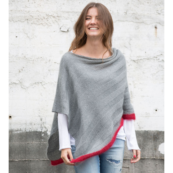 Anleitung Red Feather Poncho