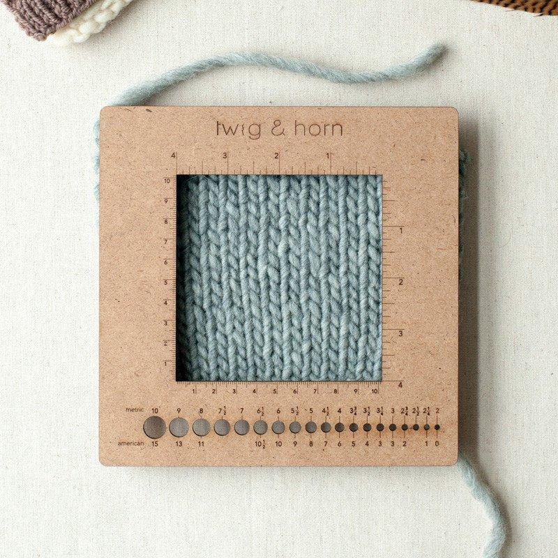twig&horn Square Gauge Ruler - Nadelmaß
