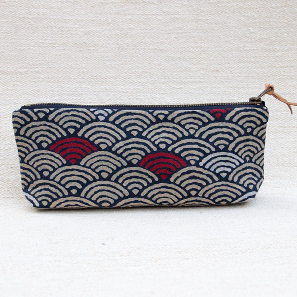 Die Mercerie Notions Pouch Red Wave