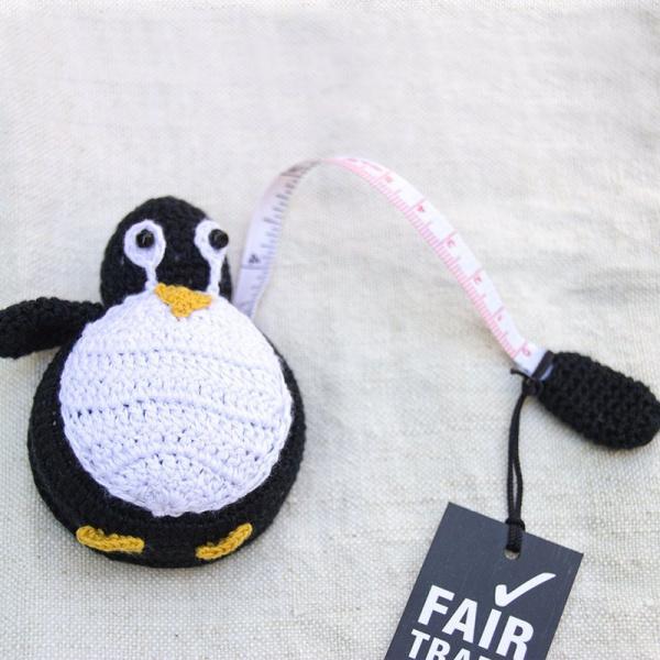 Maßband Pinguin gehäkelt