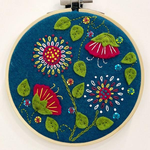 Corinne Lapierre Stick-Kit Tropische Blumen