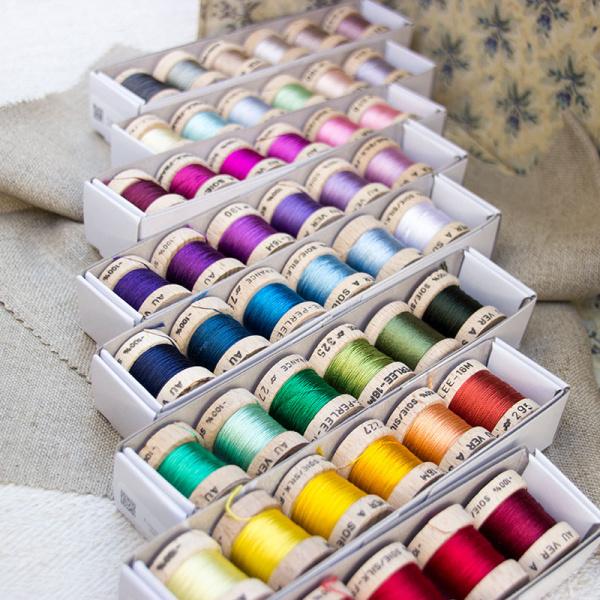 Pack Soie Perlée à 6 Farben