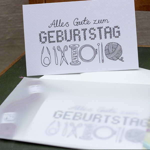 Geburtstagskarte Kit DIY by KIM WELCH