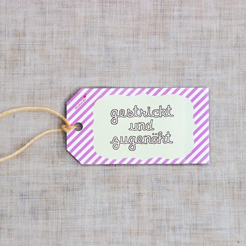 Geschenkanhänger - gestrickt und zugenäht