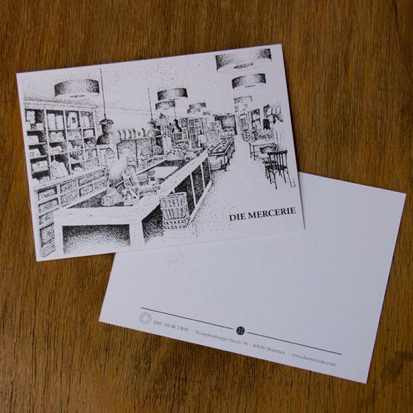 Postkarte Mercerie by Kim Welch